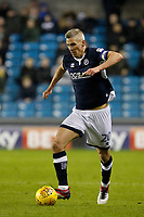 Steve Morison of Millwall on the ball during the Sky Bet Championship match between Millwall and Sheff Wednesday at The Den, London, England on 20 February 2018. Photo by Carlton Myrie.