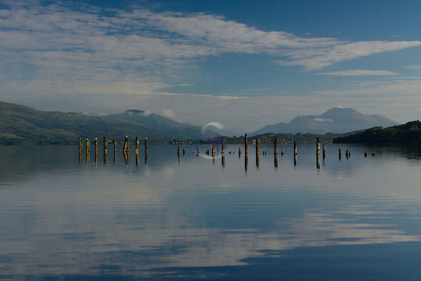 Ben Lomond and Loch Lomond in summer from Loch Lomond Shores, Loch Lomond & The Trossachs National Park<br /> <br /> Copyright www.scottishhorizons.co.uk/Keith Fergus 2011 All Rights Reserved