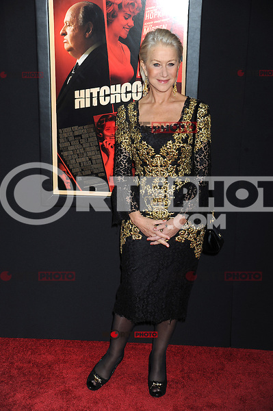 NEW YORK, NY - NOVEMBER 18: Helen Mirren at the 'Hitchcock' New York Premiere at Ziegfeld Theatre on November 18, 2012 in New York City. Credit: mpi01/MediaPunch inc. NortePhoto
