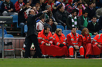 17.01.2013 SPAIN - Copa del Rey Matchday 1/2th  match played between Atletico de Madrid vs Real Betis Balompie (2-0) at Vicente Calderon stadium. The picture show Pepe Mel coach of Real Betis Balompie