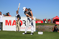 Brett Rumford (AUS) tees off on the 10th tee during Sunday's Final Round of the Bankia Madrid Masters at El Encin Golf Hotel, Madrid, Spain, 9th October 2011 (Photo Eoin Clarke/www.golffile.ie)