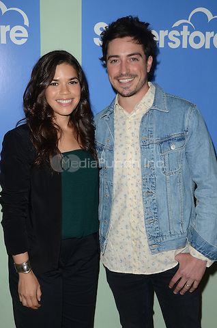 LOS ANGELES, CA - JUNE 07: America Ferrera and Ben Feldman at FYC at UCB for NBC's 'Superstore' at UCB Sunset Theater on June 7, 2016 in Los Angeles, California. Credit: David Edwards/MediaPunch