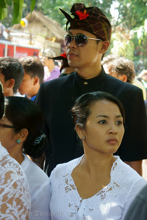Locals  watching ceremonies of cremation for a royal family member, August 2011, Ubud, Bali, archipelago Indonesia