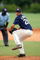 July 9, 2009:  Gabriel Encinas, one of many top prospects in action, taking part in the World Wood Bat Association National Championships at East Cobb Baseball Fields in Greater Atlanta, GA.  Photo By David Stoner / Four Seam Images