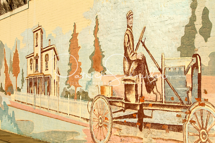 Photography of downtown Concord, NC, the largest city in Cabarrus County. A section of the Bicentennial Mural painted on the wall of a downtown  building in Concord, North Carolina.Photo is part of a photographic series of images featuring Concord, NC, by Charlotte-based photographer Patrick Schneider..