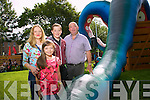 Roslyn Boyd, Ava Boyd, Darragh Boyd, Gerard Boyd from Caherslee, Tralee enjoy the Fun in the Park at the Rose of Tralee Festival on Saturday