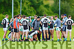 Legion manager Stephen Stack gives instructions to his players during the second half water break during their SFC game against Kilcummin in Killarney Saturday evening