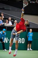 Rotterdam, The Netherlands. 16.02.2014. Horia Tecau(ROE)  ABN AMRO World tennis Tournament<br /> Photo:Tennisimages/Henk Koster