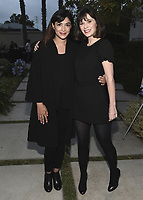 """CULVER CITY, CA - MAY 8:  Hannah Simone and Zooey Deschanel at Fox's """"New Girl"""" screening and recpetion at the Little Theater at the Fox Lot on May 8, 2018 in Culver City, California. (Photo by Scott Kirkland/Fox/PictureGroup)"""