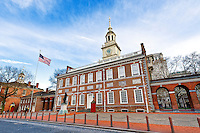 Independence Hall in Old City, 5th and Chestnut Street, Philadelphia Pennsylvania USA