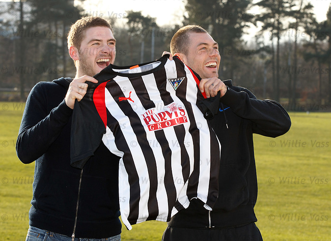 Kyle Hutton and Jordan McMillan report for duty at Dunfermline's training ground