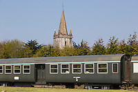 Europe/France/Normandie/Basse-Normandie/50/Manche/Barneville-Carteret : Le Train Touristique du Cotentin et la chapelle Saint-Louis  // Europe/France/Normandie/Basse-Normandie/50/Manche/Barneville-Carteret: The Cotentin Tourist Train