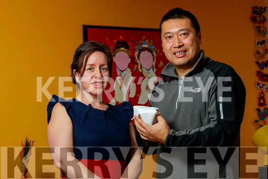 Angie Baily and Lei Zhang who have delivered face masks to the Chinese embassy.