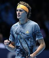 German player Alexander Zverev  (GER) <br /> London 14/11/2019 O2 Arena <br /> Tennis Nitto ATP Finals 2019 <br /> Photo Melanie Jeusette / Panoramic/ Insidefoto