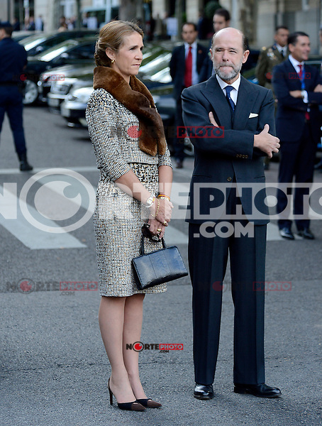Infanta Elena of Spain attends the National Day Military Parad.October 12,2012.(ALTERPHOTOS/Pool) /NortePhotoAgency