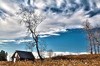 Abandoned Farm Shed - Landscape format - High Dynamic Range (HDR) effect