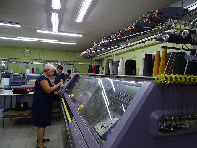 """Urkainische Textilfabrik """"Rito"""" in der Kleinstadt Browary nahe Kiew, orientiert sich in seiner Produktion jetzt Richtung EU und nicht mehr nach Russland"""