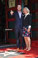 Chris O'Donnell &amp; mother Julie Ann O'Donnell on Hollywood Boulevard where he was honored with the 2,544th star on the Walk of Fame.<br /> March 5, 2015  Los Angeles, CA<br /> Picture: Paul Smith / Featureflash