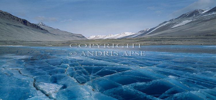 Lake Vanda. Wright Valley in the Dry Valleys. Antarctica.
