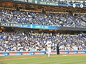 Kenta Maeda (Dodgers),<br /> APRIL 15, 2017 - MLB :<br /> Los Angeles Dodgers starting pitcher Kenta Maeda heads to the mound during the Major League Baseball game against the Arizona Diamondbacks at Dodger Stadium in Los Angeles, California, United States. (Photo by AFLO)
