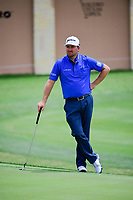 Graeme McDowell (NIR) awaits to putt on 18 during round 1 of the Valero Texas Open, AT&amp;T Oaks Course, TPC San Antonio, San Antonio, Texas, USA. 4/20/2017.<br /> Picture: Golffile | Ken Murray<br /> <br /> <br /> All photo usage must carry mandatory copyright credit (&copy; Golffile | Ken Murray)