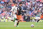 Real Madrid's Carlos Henrique Casemiro and Valencia CF's Carlos Soler during La Liga match between Real Madrid and Valencia CF at Santiago Bernabeu Stadium in Madrid, April 29, 2017. Spain.<br /> (ALTERPHOTOS/BorjaB.Hojas)