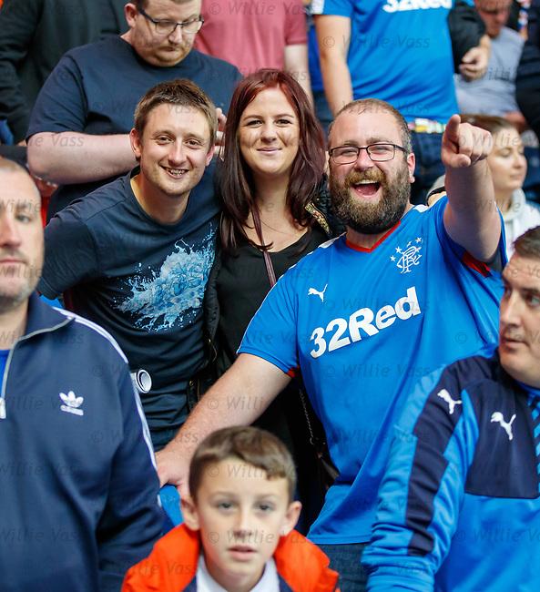 12.07.18 Rangers v FK Skhupi: Rangers fans