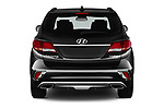 Straight rear view of a 2019 Hyundai Santa FE XL Limited Ultimate 5 Door SUV stock images