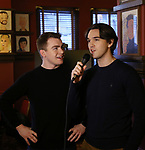 "Jack DiFalco and Collin Kelly-Sordelet attends the ""The Ferryman"" cast change photo call on January 17, 2019 at the Sardi's in New York City."