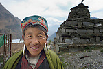 A Tamang woman in the village of Gatlang, in the Rasuwa District of Nepal near the country's border with Tibet.