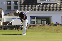 Hideto Tanihara (JPN) putts on the 2nd green during Thursday's Round 1 of the Dubai Duty Free Irish Open 2019, held at Lahinch Golf Club, Lahinch, Ireland. 4th July 2019.<br /> Picture: Eoin Clarke | Golffile<br /> <br /> <br /> All photos usage must carry mandatory copyright credit (© Golffile | Eoin Clarke)