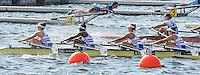 Rotterdam. Netherlands.  GBR JW4X. Annabel Stevens, Sheyi Blackett, Lola Anderson and Lucy Glover.&nbsp;attached for the race - Junior SEMI FINAL A/B, at the  2016 JWRC, U23 and Non Olympic Regatta. {WRCH2016}  at the Willem-Alexander Baan.   Saturday  27/08/2016 <br /> <br /> [Mandatory Credit; Peter SPURRIER/Intersport Images]