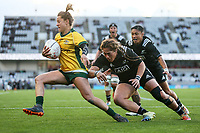 International women's rugby match between the New Zealand Black Ferns and Australia Wallaroos at Eden Park in Auckland, New Zealand on Saturday 25 August 2018. Photo: Simon Watts / lintottphoto.co.nz
