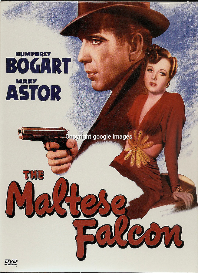 BNPS.co.uk (01202) 558833<br /> Pic: GoogleImages<br /> <br /> Film poster.<br /> <br /> Million Dollar prop...<br /> <br /> The Maltese Falcon - this unremarkable statue is being being hailed as the 'most important prop in cinema history' and is set to break all records when it goes on sale at Bonhams in New York later on this year.<br /> <br /> <br /> The lead statue which famously turned out to be a worthless dud in the Hollywood blockbuster The Maltese Falcon is now on the market for £1million. In the 1941 hit film the 12-inch falcon statue was the object of desire of silver screen star Humphrey Bogart, who wrongly believed it to be a priceless solid gold antique. The 50lbs model was dropped during filming denting the bird's tail feathers - and the damage can be spotted in several key scenes. Despite going on display in top museums around the world it has never appeared at auction before.
