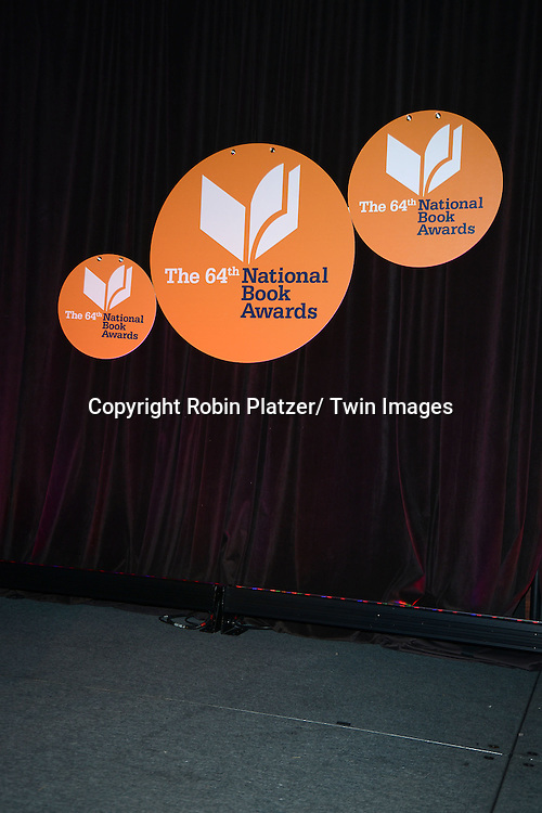 The stage at the 2013 National Book Awards Dinner and Ceremony on November 20, 2013 at Cipriani Wall Street in New York City.