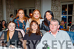 Seated L-R Louise O'Connor with Olivia&Ciaran Butler, back L-R Siobhan Lacey, Chloe Leen and Anna O'Sullivan (Store Manager) enjoying the Tesco staff, Manor West shopping centre, annual party held in the Meadowlands hotel, Tralee last Saturday night.