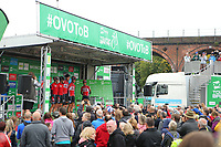 Picture by Alex Whitehead/SWpix.com - 10/09/2017 - Cycling - OVO Energy Tour of Britain - Stage 8, Worcester to Cardiff - Lotto Soudal at sign on.