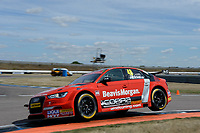 #48 Ollie Jackson AmDTuning.com with Cobra Exhausts Audi S3 Saloon during BTCC Practice  as part of the Dunlop MSA British Touring Car Championship - Rockingham 2018 at Rockingham, Corby, Northamptonshire, United Kingdom. August 11 2018. World Copyright Peter Taylor/PSP. Copy of publication required for printed pictures.