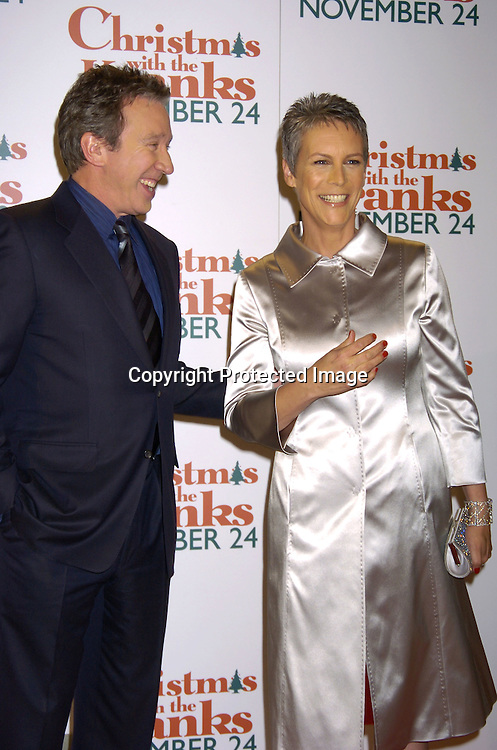 """Tim Allen and Jamie Lee Curtis..at the World Premiere of """"Christmas with the Kranks"""" on ..November 15, 2004 at Radio City Music Hall...Photo by Robin Platzer, Twin Images"""