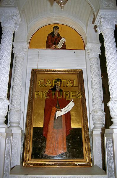 Saint Gerassimos Monastery, interior paintings, Kefalonia, Greece