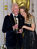 """CHRISTOPHER PLUMMER AND MELISSA LEO.Plummer was the winner of the Best Supporting Actor Award at the 84th Academy Awards, Kodak Theatre, Hollywood, Los Angeles_26/02/2012.Mandatory Photo Credit: ©Dias/Newspix International..**ALL FEES PAYABLE TO: """"NEWSPIX INTERNATIONAL""""**..PHOTO CREDIT MANDATORY!!: NEWSPIX INTERNATIONAL(Failure to credit will incur a surcharge of 100% of reproduction fees)..IMMEDIATE CONFIRMATION OF USAGE REQUIRED:.Newspix International, 31 Chinnery Hill, Bishop's Stortford, ENGLAND CM23 3PS.Tel:+441279 324672  ; Fax: +441279656877.Mobile:  0777568 1153.e-mail: info@newspixinternational.co.uk"""