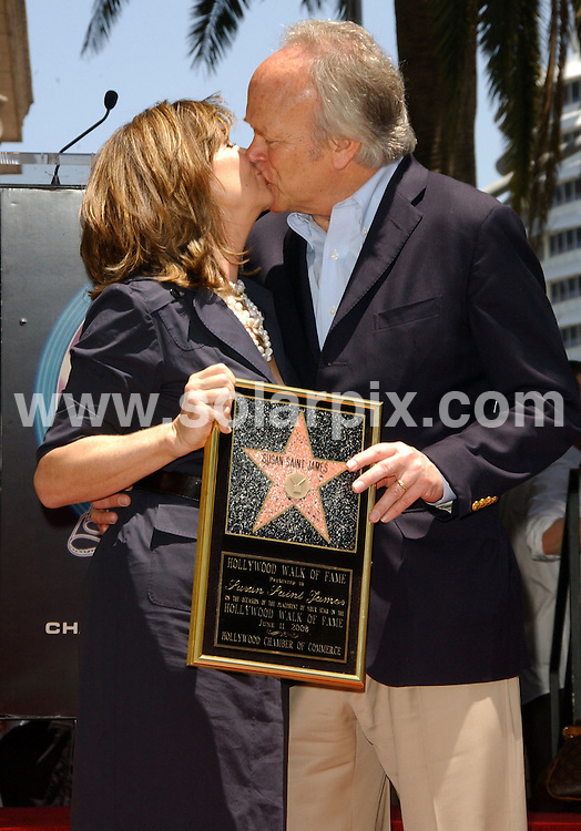 **ALL ROUND PICTURES FROM SOLARPIX.COM**.**SYNDICATION RIGHTS FOR UK, SPAIN, PORTUGAL, AUSTRALIA, S.AFRICA & DUBAI (U.A.E) ONLY**.The Hollywood actress Susan Saint James Honoured With A Star On The Hollywood Walk OF Fame on 1645 Vine Street in Hollywood California in the USA. .This pic:Susan,Saint,James,and,Dick,Ebersol.JOB REF:6622-PHZ/Albert.L.Ortega    DATE:11_06_08 .**MUST CREDIT SOLARPIX.COM OR DOUBLE FEE WILL BE CHARGED* *UNDER NO CIRCUMSTANCES IS THIS IMAGE TO BE REPRODUCED FOR ANY ONLINE EDITION WITHOUT PRIOR PERMISSION*