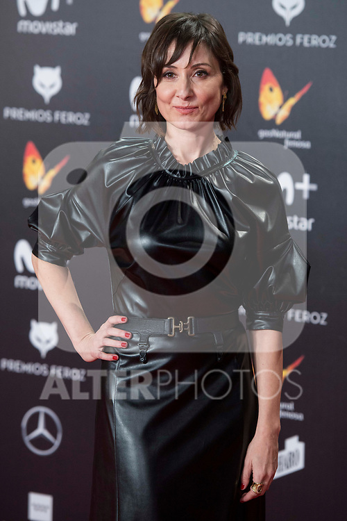Nathalie Poza attends red carpet of Feroz Awards 2018 at Magarinos Complex in Madrid, Spain. January 22, 2018. (ALTERPHOTOS/Borja B.Hojas)
