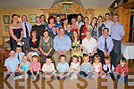 WEDDING CELEBRATION: Barry and Helen Brosnan, Milltown (seated centre) who were married in Rome on the 14th April celebrating with family and friends at Stokers Lodge restaurant and bar on Saturday.