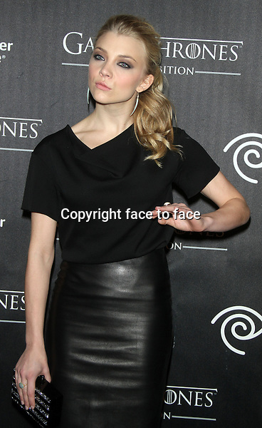 "NEW YORK, NY - MARCH 27: Natalie Dormer at the ""Game Of Thrones"" The Exhibition New York Opening at 3 West 57th Avenue on March 27, 2013 in New York City...Credit: MediaPunch/face to face..- Germany, Austria, Switzerland, Eastern Europe, Australia, UK, USA, Taiwan, Singapore, China, Malaysia and Thailand rights only -"
