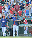 Yu Darvish (Rangers),<br /> JUNE 30, 2013 - MLB :<br /> Yu Darvish of the Texas Rangers celebrates with his teammate after the Major League Baseball game against the Cincinnati Reds at Rangers Ballpark in Arlington in Arlington, Texas, United States. (Photo by AFLO)