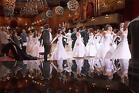 0802020250c Dress rehearsal of the 13th Budapest Opera Ball held at Opera House involving 50 couples of debutantes performing the opening waltz. Budapest, Hungary. Saturday, 02. February 2008. ATTILA VOLGYI