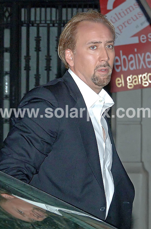 **ALL-ROUND PICTURES FROM SOLARPIX.COM**.**SYNDICATION RIGHTS FOR UK, AUSTRALIA & NEW ZEALAND ONLY**.Nicolas Cage visits Barcelona, Spain, with his wife, Alice Kim, and his son, Kel- El, where they celebrated their 6th wedding anniversary with an intimate dinner at Botafumeiro - a traditional Barcelona restaurant popular with celebrities. Barcelona, Spain. 29 July 2010.This pic: Nicolas Cage..JOB REF: 11802 SKX      DATE: 29_07_2010.**MUST CREDIT SOLARPIX.COM OR DOUBLE FEE WILL BE CHARGED**.**MUST NOTIFY SOLARPIX OF ONLINE USAGE**.**CALL US ON: +34 952 811 768 or LOW RATE FROM UK 0844 617 7637**