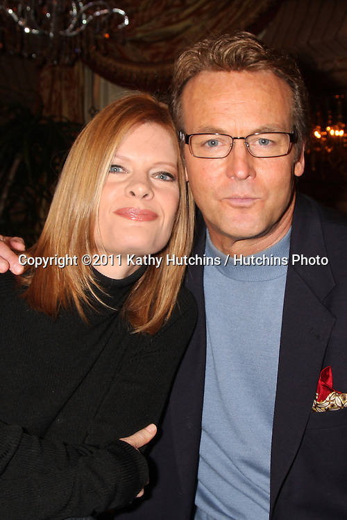 LOS ANGELES - MAR 24:  Michelle Stafford, Doug Davidson at the Young & Restless 38th Anniversary On Set Press Party at CBS Television City on March 24, 2011 in Los Angeles, CA