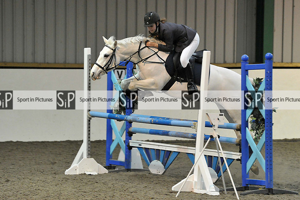 Class 2. Area 40 British showjumping christmas show. Brook Farm Training Centre. Essex. UK. 01/12/2018. ~ MANDATORY Credit Garry Bowden/Sportinpictures - NO UNAUTHORISED USE - 07837 394578
